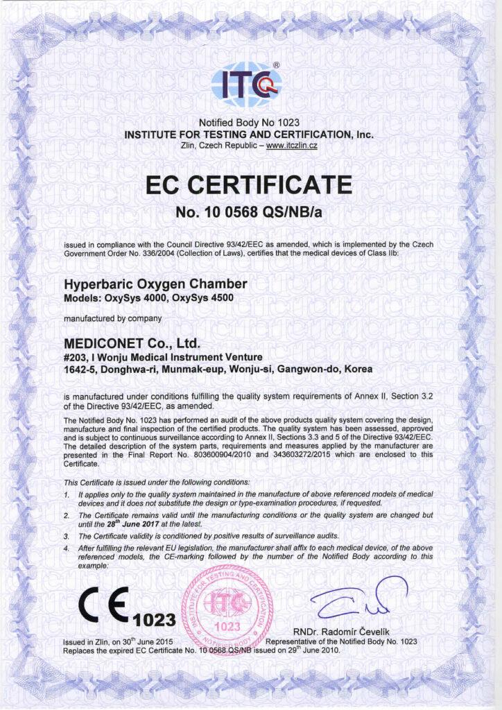 certyfikat tlenoterapia łomża